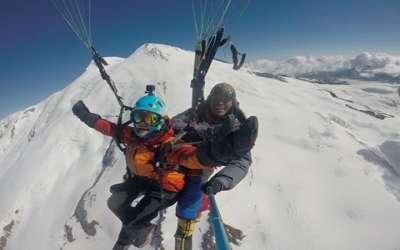 Babu Sunuwar | Paragliding from Mt. Elbrus