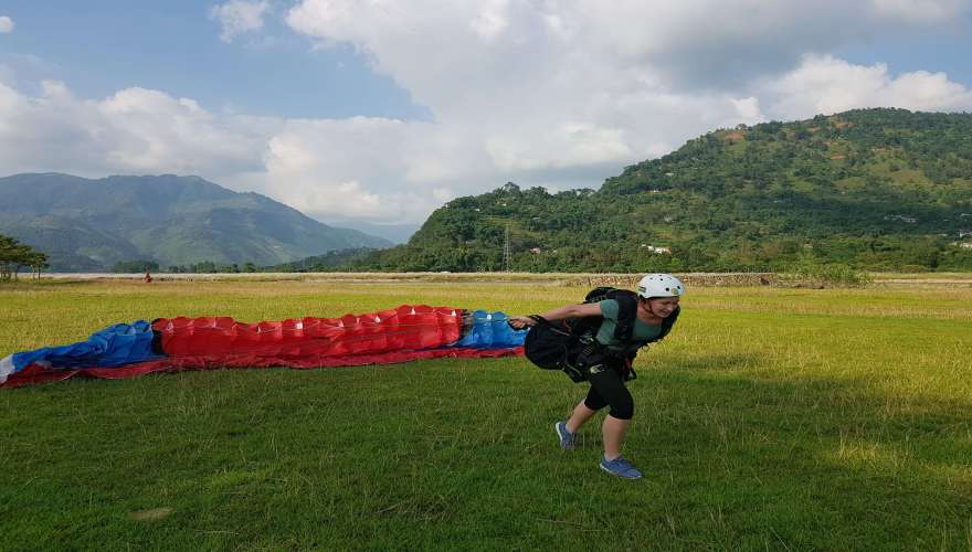 Paragliding Beginners Course the babu adventures nepal